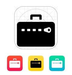 Zipper case icon vector
