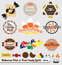 Halloween Trick or Treat Candy Labels vector image