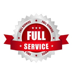full service button vector image