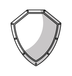 Shield security isolated icon vector