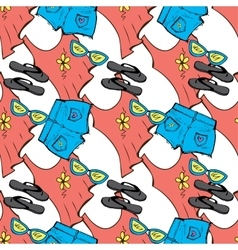 Summer clothes seamless pattern vector