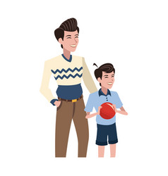 father and son icon vector image