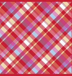 Red pixel plaid seamless fabric texture vector