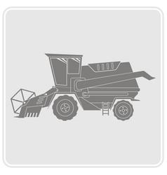 icon with farm combine vector image