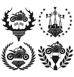 Motorcycle sport vector