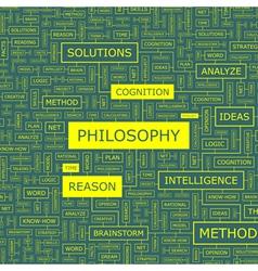 PHILOSOPHY vector image
