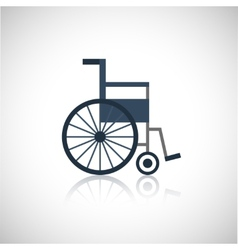 Wheel chair icon flat vector