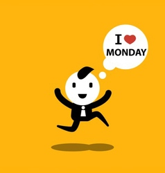 I love monday vector