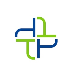 Abstract cross medic hospital logo vector