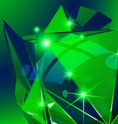 Plastic grain fond emerald dimensional geometric vector