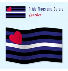 Leather pride flag with correct color scheme vector
