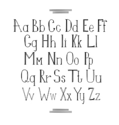 Latin alphabet vector