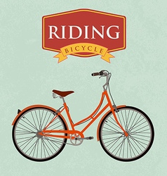 Bicycle retro poster i want to ride my bicycle vector