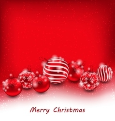 Christmas abstract background with red balls vector