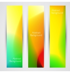 Colorful abstract banners vector