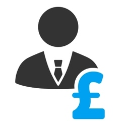 Pound banker flat icon symbol vector