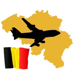 Fly me to the belgium vector