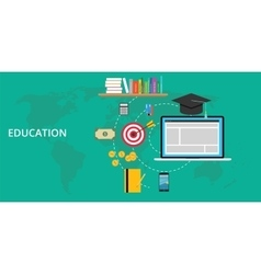 Education stuff and preparation vector