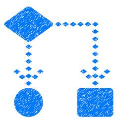 Algorithm scheme grunge icon vector