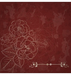 Background with bouquet of roses vector image vector image