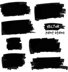 Black paint spots set vector image vector image