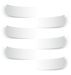 Blank paper banners with shadows background vector image