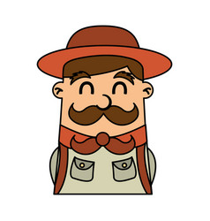 Boy scout character icon vector