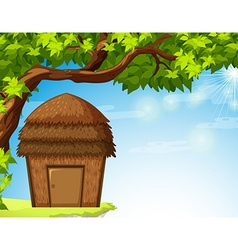 Bungalow under the tree vector image