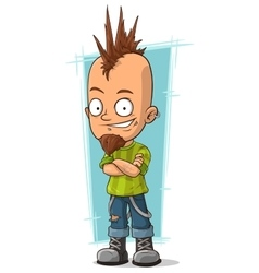 Cartoon cool punk with mohawk hairstyle vector