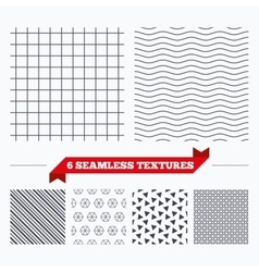 Cell grid stripped geometric seamless pattern vector image vector image