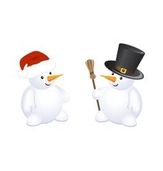 Christmas cheerful snowman vector