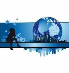 cityscape urban frame fashion silhouette vector image vector image
