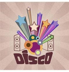 disco retro background vector image