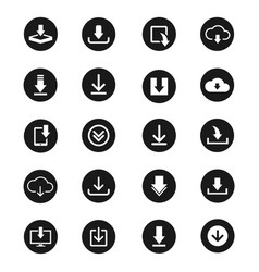 download icon set for web design vector image