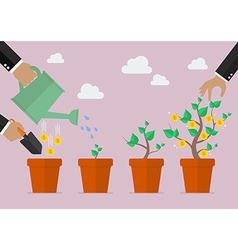 Financial growth process vector