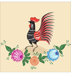 Folklore pattern gorodets painting russia vector