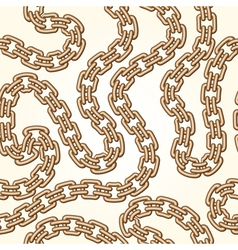 Gold chains pattern vector image