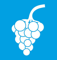 Grape branch icon white vector