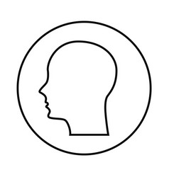 Human profile isolated icon vector