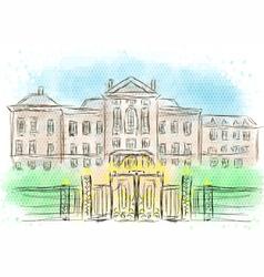 kensington palace vector image vector image