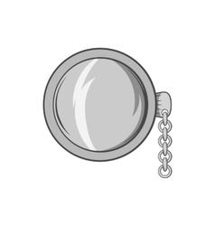 Pocket watch icon black monochrome style vector