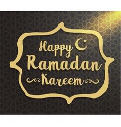 Ramadan kareem typographic design vector image vector image