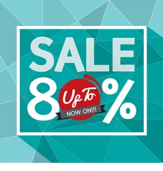 Sale uo to 80 percent banner vector