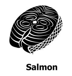 salmon icon simple black style vector image