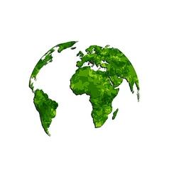 Save the green earth environmental symbol vector