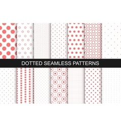 Seamless patterns with circles and dots vector image vector image