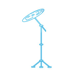 Silhouette cymbal musical instrument to play music vector