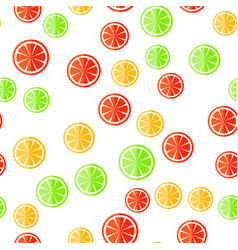sliced fruit on a white background vector image vector image