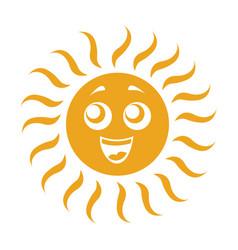 summer sun kawaii character vector image