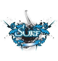 Surfboard vector image vector image